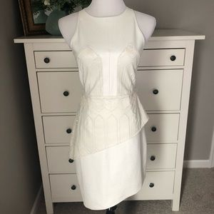 NWT. White Faux Leather Dress.